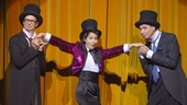 Bill Irwin, Shaina Taub and David Shiner in Old Hats.   Photo by Kevin Berne.