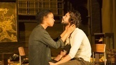 Sophie Okonedo as Elizabeth Proctor and Ben Whishaw as John Proctor in Arthur Miller's The Crucible.