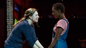 Vanessa Aspillaga as Daphne and Samira Wiley as Ruby in Daphne's Dive.