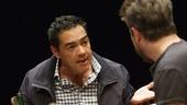 Carlos Gomez as Acosta and Matthew Saldivar as Pablo.