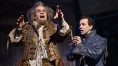 Brad Oscar as Nostradamus and Rob McClure as Nick Bottom in Something Rotten!