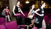 Billy Elliot Ballet Girls Open Call – dancers coming down theater aisle