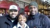 Shutterbug Derrick Baskin captures the smiling faces of James Monroe Iglehart, Montego Glover and J. Bernard Calloway.
