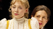 Juliet Rylance as Irina and Jessica Hecht as Olga in Three Sisters.