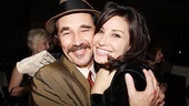 Mark Rylance cozies up to his former Boeing Boeing co-star Gina Gershon.