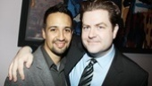 Lin-Manuel Miranda leans in for a close-up with Broadway.com Editor-in-Chief Paul Wontorek.