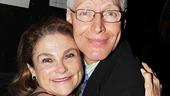 Past Theatre World Award recipient Tovah Feldshuh gives current winner Tony Sheldon a big congratulatory hug.