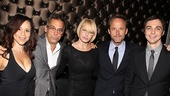 Rosie Perez steps in for snapshot with four stars of George C. Wolfe's Tony-winning revival of The Normal Heart: Joe Mantello, Ellen Barkin, John Benjamin Hickey and Jim Parsons.