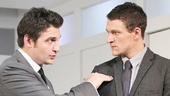 Toby Leonard Moore as Scott and Gabriel Ebert as Jason in Suicide, Incorporated.