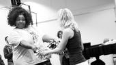 Lysistrata Rehearsal – Liz Mikel – Patti Murin