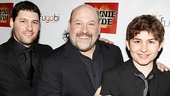 <i>Bonnie & Clyde</i> opening night – Frank Wildhorn, sons Jake and Justin