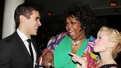 Triple threat trio! Josh Segarra, Liz Mikel and Patti Murin share a few laughs on their big Broadway night.