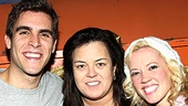 Rosie O'Donnell shares a parting shot with Lysistrata Jones's lead couple Josh Segarra and Patti Murin. Be sure to get in the game and catch the musical for yourself!