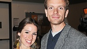 Chilina Kennedy and Paul Nolan are cool as cucumbers at their first Broadway press junket.