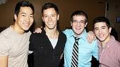 Newsies- Alex Wong, Thayne Jasperson, Evan Kasprzak and Jess LeProtto