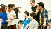 Newsies: Garett Hawe, Kyle Coffman,Ryan Steele, Aaron J. Albano, Kara Lindsay and Tommy Bracco.