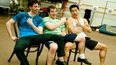 Newsies- Garett Hawe, Evan Kasprzak and Alex Wong