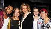 Kathie Lee and Hoda at Godspell –  Wallace Smith – Kathie Lee Gifford – Hoda Kotb – Hunter Parrish – Telly Leung