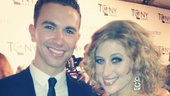 2012 Tony Awards Instagram Snapshots – Caissie Levy – Richard Fleeshman
