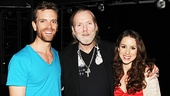 """The musical's stars, Paul Nolan and Chilina Kennedy, are thrilled to welcome rock """"superstar"""" Gregg Allman backstage."""