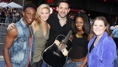 Once frontman Steve Kazee is flanked by Bring It On's Gregory Haney, Taylor Louderman, Adrienne Warren and Ryann Redmond.