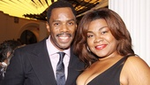 Tony-nominated Ghost star Da'Vine Joy Randolph shares a smile with Colman Domingo on opening night.