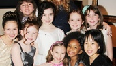 Annie- Madi Rae DiPietro- Sadie Sink- Georgi James- Lilla Crawford- Katie Finneran-Taylor Richardson-Jaidyn Young- Emily Rosenfeld -Tyrah Skye Odoms- Junah Jang