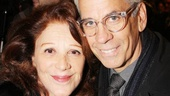 Tony winner Linda Lavin and husband Steve Bakunas are primed for a fun night at the theater.
