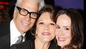 Collected Stories co-stars Linda Lavin and Sarah Paulson reconnect on the red carpet. Also pictured is Lavin's husband, musician Steve Bakunas.