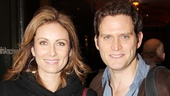 Opening night guests Laura Benanti and hubby Steven Pasquale take in the latest Roundabout offering.