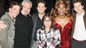 Celebs at Kinky Boots — Christian Borle — Harvey Fierstein — Matt Morrison — Patti LuPone — Billy Porter — Stark Sands