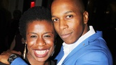 Onstage mother and son Uzo Aduba and Leslie Odom Jr. shine after stopping the show in Venice.