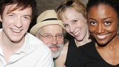 Album signing is serious business, but Matthew James Thomas, Terrence Mann, Charlotte d'Amboise and Patina Miller make time to goof around.
