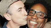 Broadway.com video bloggers unite! Alan Cumming gives Kinky Boots star Billy Porter a celebratory smooch.