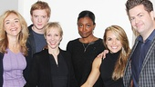 Rachel Bay Jones, Matthew James Thomas, Charlotte d'Amboise, Patina Miller and Viktoria Grimmy take a parting snapshot with Broadway.com Editor-in-Chief Paul Wontorek. What an extraordinary event!