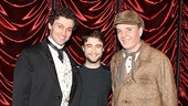 Guide stars Bryce Pinkham and Tony winner Jefferson Mays welcome Daniel Radcliffe back to Broadway for a visit.