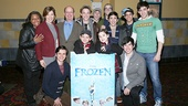 The totally chill company of Newsies hang out at the screening of Disney's Frozen.