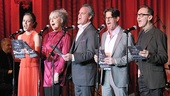 The Threepenny Opera cast members Laura Osnes, Mary Beth Peil, Michael Park, Rick Holmes and  John Kelly perform at the gala.