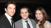 Boardwalk Empire star Michael Stuhlbarg and his wife, Rocky house crew member Mai-Linh Lofgren, snap a pic with Andy Karl.