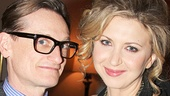 Vogue's Hamish Bowles & Nina Arianda catch up after the show.