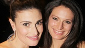 Elphies unite! If/Then star Idina Menzel and her standby Jackie Burns hang out at the Edison Ballroom.