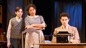 Matthew Schechter as Bernie Hart, Mimi Lieber as Lillie Hart & Santino Fontana as Moss Hart in Act One