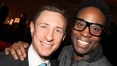 Casting director Craig Burns hangs out at the Hammerstein Ballroom with Tony winner Billy Porter.