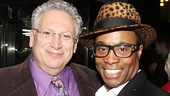 Kinky Boots book writer Harvey Fierstein with the musical's Tony-winning star Billy Porter.