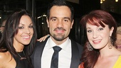 Les Miserables fave Ramin Karimloo is flanked by his wife Amanda and his former Phantom leading lady Sierra Boggess.