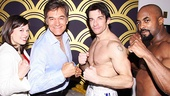 Rocky stars Margo Seibert (Adrian), Andy Karl  (Rocky Balboa) and Terence Archie (Apollo Creed) show Dr. Mehmet Oz their moves.
