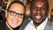 Broadway alum Eliseo Roman with Violet star Joshua Henry.