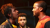 Saul Williams as John, Dyllon Burnside as Anthony & Joshua Boone as Darius in Holler If You Hear Me