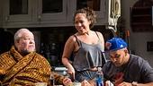 Stephen McKinley Henderson as Pops, Rosal Colon as Lulu & Victor Almanzar as Oswaldo in Between Riverside and Crazy