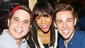 The Book of Mormon stars Ben Platt and Nic Rouleau flank alum Nikki M. James, who now stars in Les Miserables.